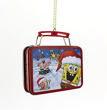 spongebob squarepants kurt adler tin box ornament nickelodeon http