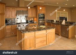 Expensive Kitchens Designs by Expensive Kitchen Granite Counters Tile Floor Stock Photo 2018490