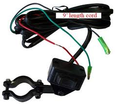 amazon com atv mini rocker winch switch handlebar remote