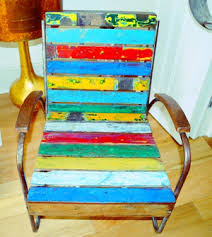 Reclaimed Armchair Teak Armchair Made With Reclaimed Boat Wood Punk It Up Recycled