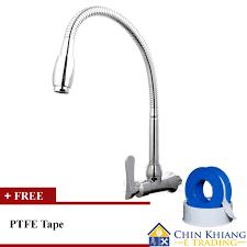 aleno ak732 wall mounted flexible kitchen sink water tap faucet