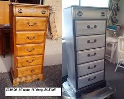painting furniture black before and after