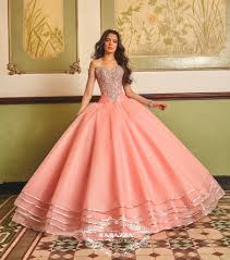quinceanera dresses coral beaded sheer sleeved quinceanera dress by ragazza fashion v89 389