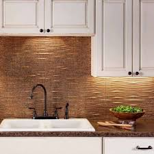 kitchen backsplash panels uk kitchen fasade backsplash waves in cracked copper tiles for