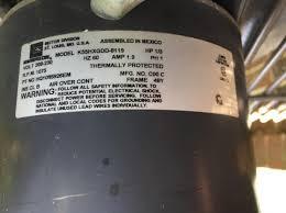 replacing emerson 3 wire condenser fan motor with rescue 5 wire