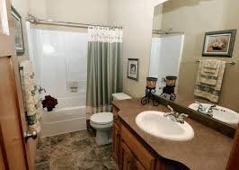 modern bathroom gray with pewter beveled rectangle framed