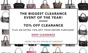 coach factory store sale up to 80 ends tonight