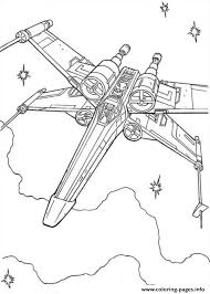 star wars wing fighter coloring pages printable