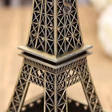 Eiffel Tower Decorations Bronze Tone Paris Eiffel Tower Figurine Statue Vintage Model Decor