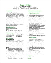 Example Of Project Manager Resume by Sample Project Manager Resume 8 Examples In Word Pdf