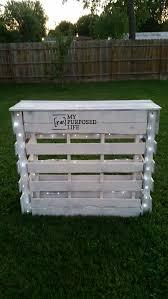 portable folding diy pallet bar great for weddings tailgating