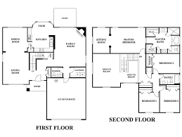 2 story floor plans with garage two floor house plans novic me