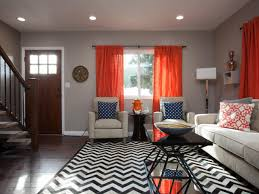 new orange accents in living room inspirational home decorating