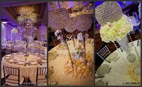 suhaag garden indian wedding centerpieces crystals flowers