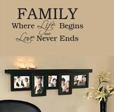 wall design ideas never ends family wall ideas quotes
