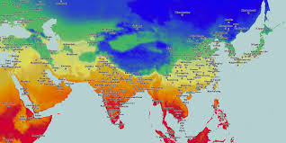 Thematic Maps Thematic Maps And City Maps Temperature