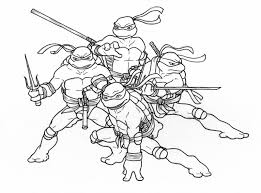 teenage mutant ninja turtles coloring pages throughout teenage