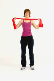 Chair Resistance Band Exercises Scapular Retraction With The Exercise Band I Work Oooooout