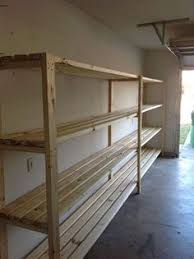 Free Standing Garage Shelf Plans by Cheap Garage Shelves Ideas How To Make A Basement Storage Shelf