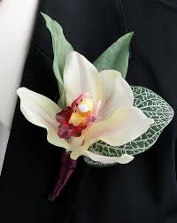 orchid boutonniere online order say 16 wine real touch cymbidium orchid boutonniere