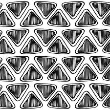 monochrome seamless zentangle pattern with doodle triangles
