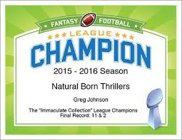 12 best fantasy football awards certificates templates images on