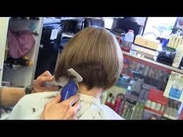 shingling haircut suzy s graduated bob aline clipper haircut video youtube
