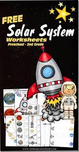 solar system learning pack for preschool kindergarten and 1st