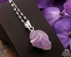 amethyst necklace silver images Plated amethyst necklace jpg