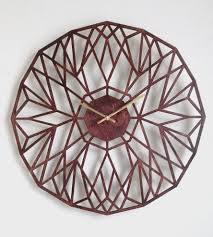 north star laser cut wood clock home decor u0026 lighting sarah