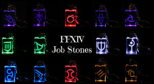 Halloween Summoner Icons Ffxiv Job Icon Keychains Real Crystal Led Light Great