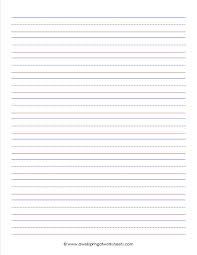 writing worksheets lined paper fine printable for 2nd grade