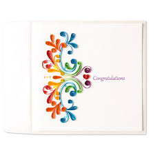thanksgiving congratulations quilled congratulations blank card