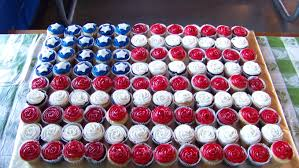 The American Flag Flag Cupcakes Cupcakes In The Shape Of The American Flag Made