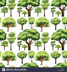 different types of trees seamless background design with different types of trees