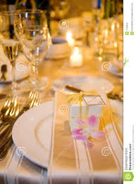 wedding table setting and favour royalty free stock photo image