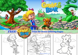 free goldie and bear coloring pages from disney junior mommy mafia