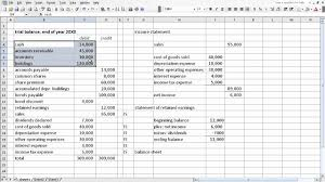 Monthly Balance Sheet Template Excel exercise from trial balance to financial statements youtube