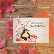 fall baby shower invitation printable hedgehog baby shower invite