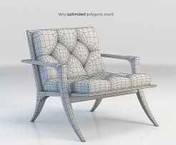 3d baker athens lounge chair cgtrader