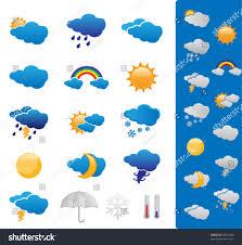 Weather Map Symbols Snow Weather Forecast Symbols