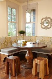 Curved Banquette Kitchen Traditional With Built In Kitchen Table Booth Kitchen Traditional With Yellow Walls