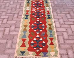 Flat Woven Runner Rugs Vintage Turkish Tribal Hand Woven Kilim Runner Rug Large Width