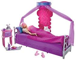 amazon com barbie bed to breakfast deluxe bedroom and doll set