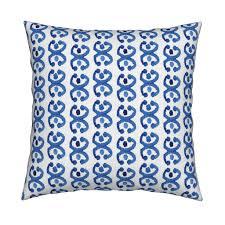 indigo boho watercolor blue white horse tea towels by