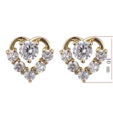 small earrings design otogo transing ej 0074 wholesale classic heart design gold color