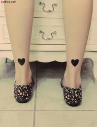 50 heart tattoos for ankle