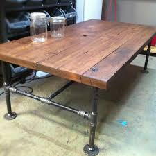 furniture made of old decking custom made barn wood cast iron