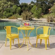 Yellow Patio Chairs Yellow Patio Dining Sets You Ll Wayfair