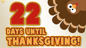22 days until thanksgiving scoopnest